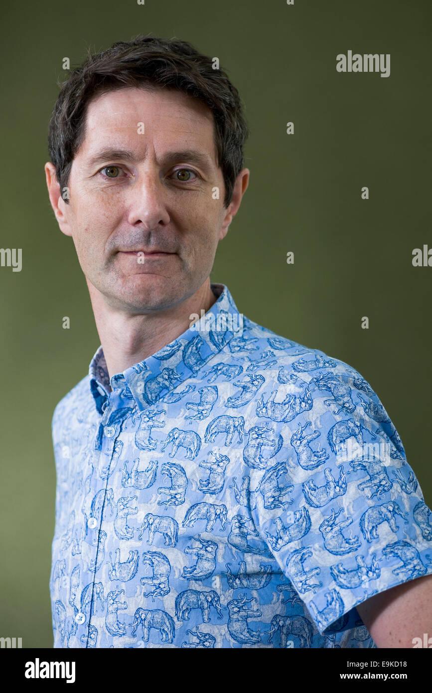 British academic and science communicator Trevor Cox appears at the Edinburgh International Book Festival. - Stock Image