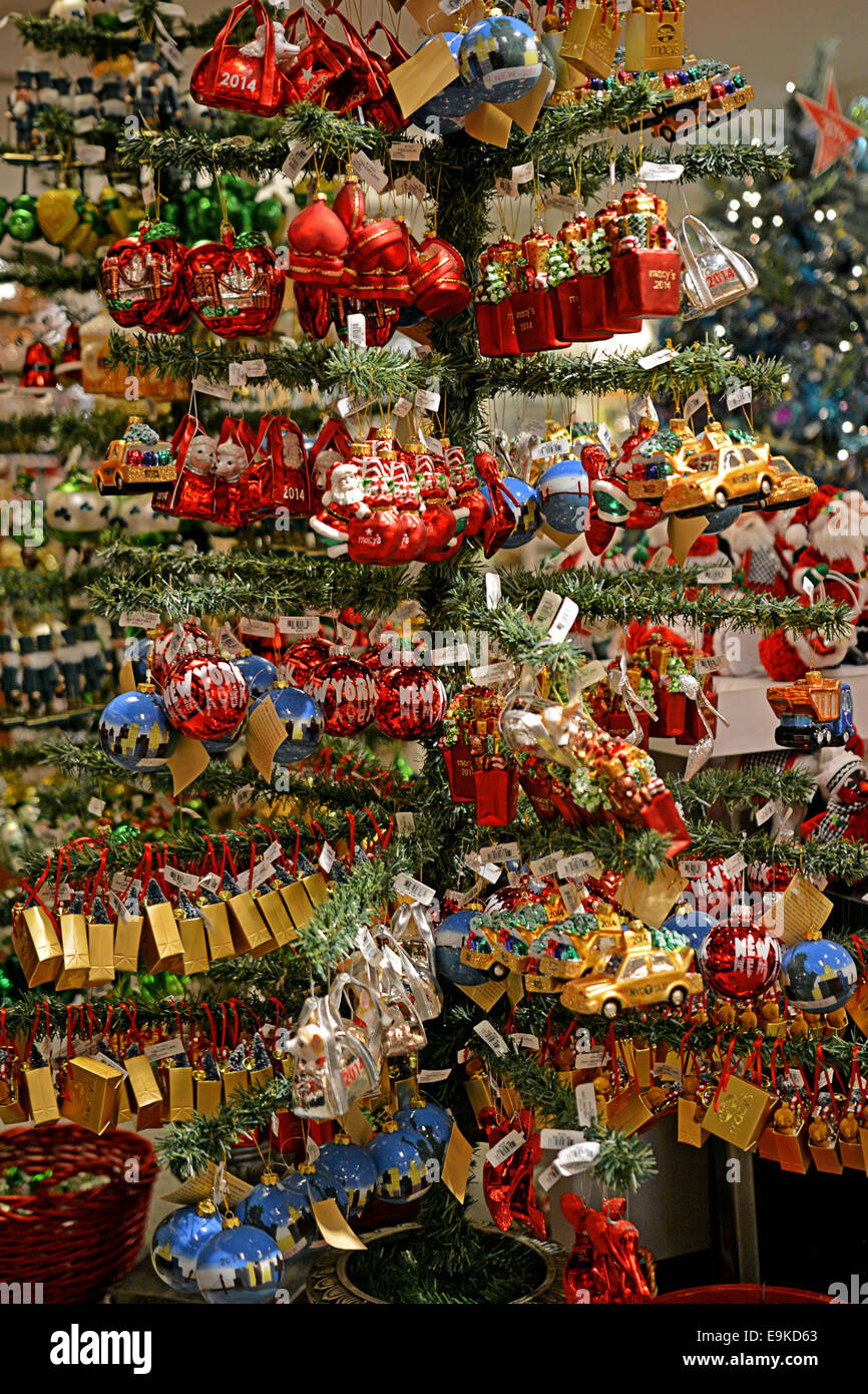 christmas tree ornaments for sale at macys department store in manhasset long island new york