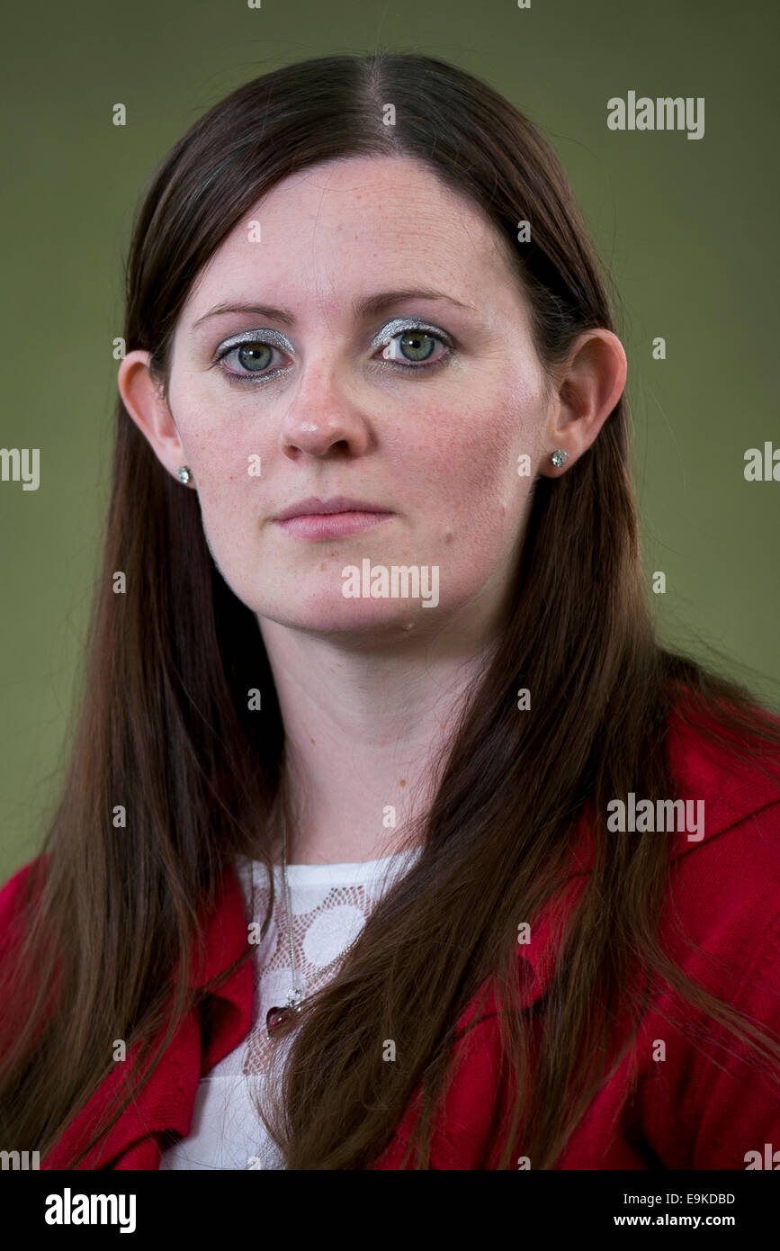 Writer Claire McFall appears at the Edinburgh International Book Festival. - Stock Image