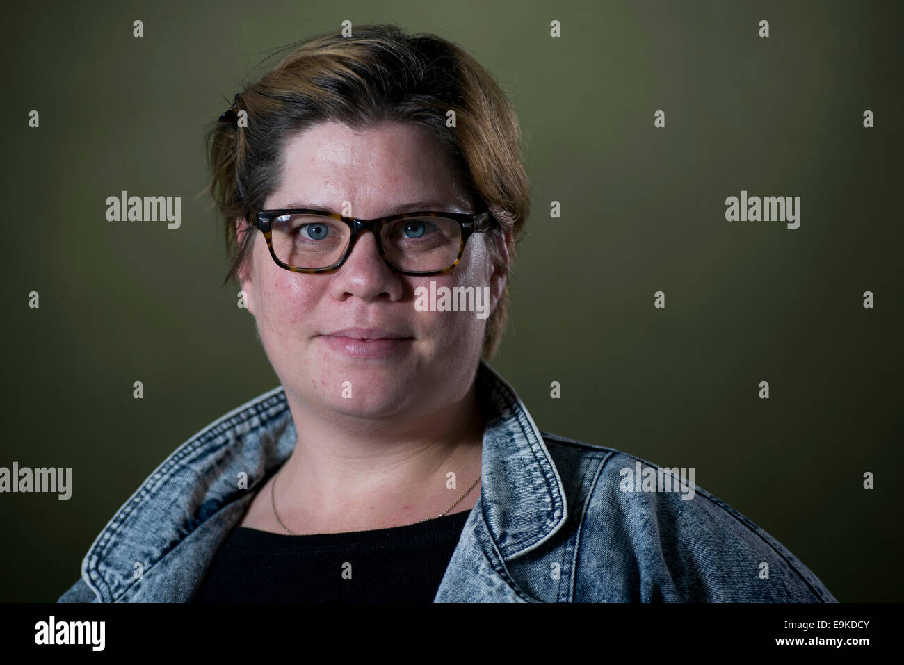English actress, comedian and writer Katy Brand appears at the Edinburgh International Book Festival. - Stock Image