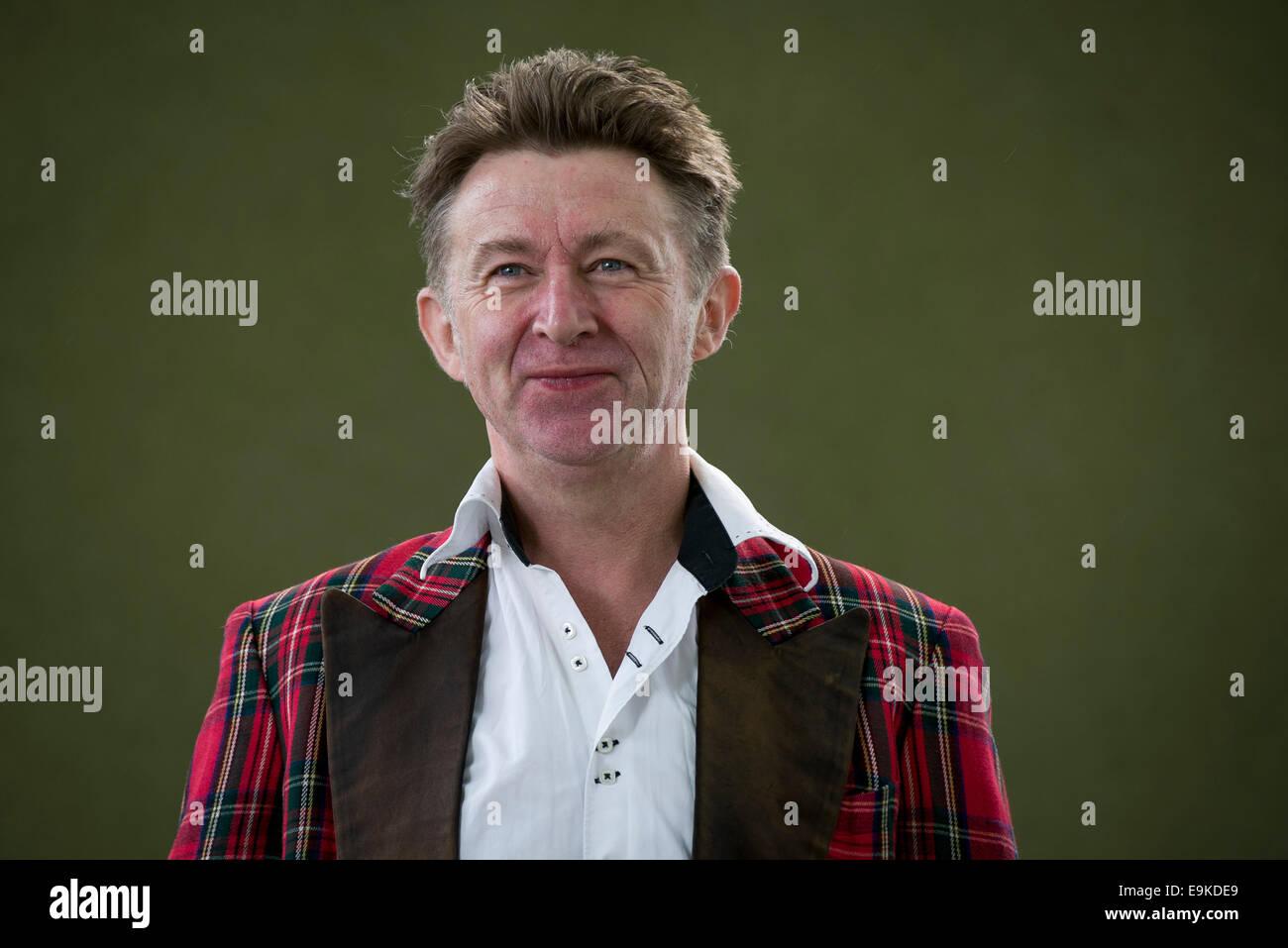 Award-winning Scottish poet, stand-up comedian Elvis McGonagall appears at the Edinburgh International Book Festival. - Stock Image
