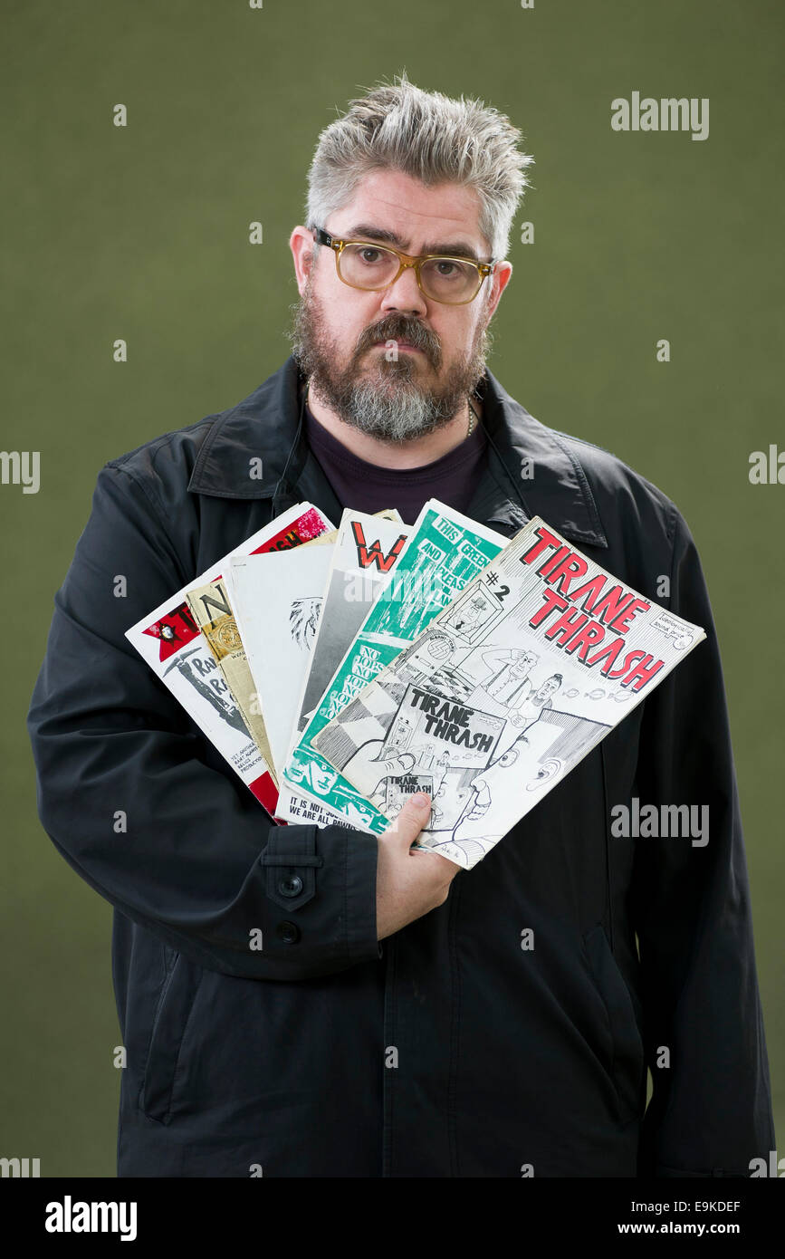 English stand-up and improv comedian, actor, performance poet, cartoonist and podcaster, Phil Jupitus. - Stock Image