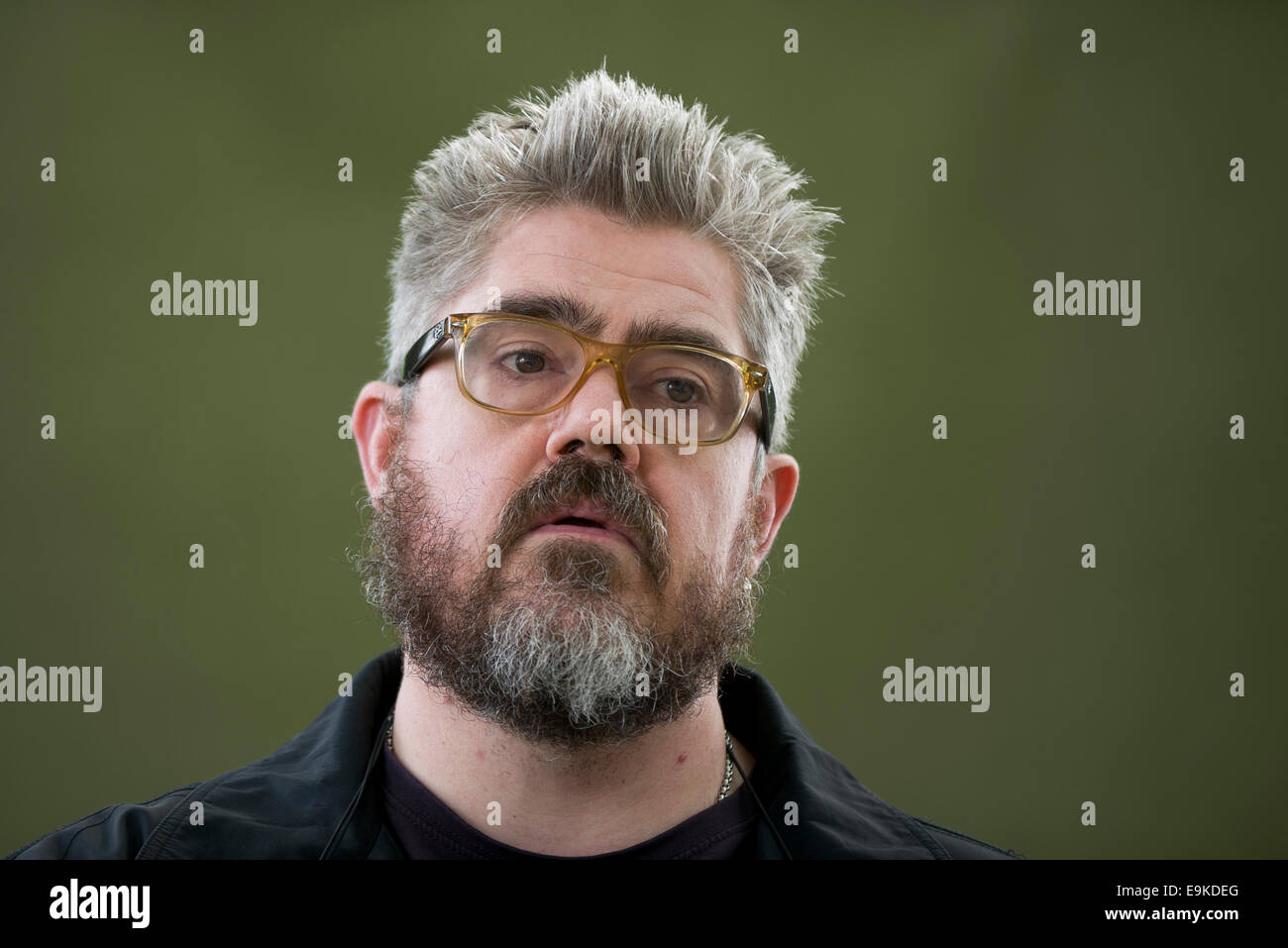 English stand-up and improv comedian, actor, performance poet, cartoonist and podcaster ,Phil Jupitus. - Stock Image