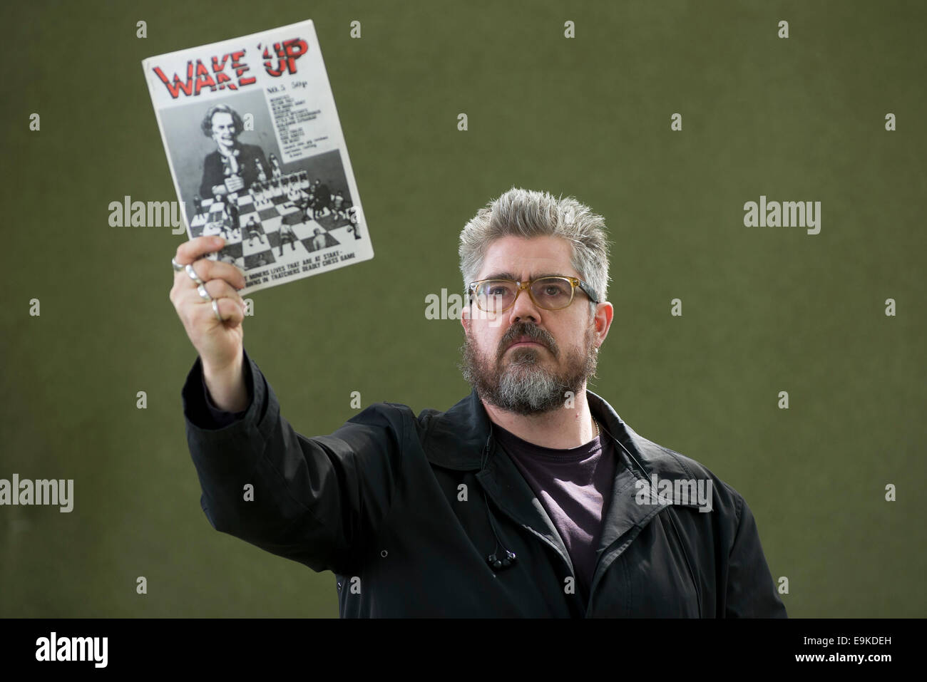 English stand-up and improv comedian, actor, performance poet, cartoonist and podcaster Phil Jupitus. - Stock Image