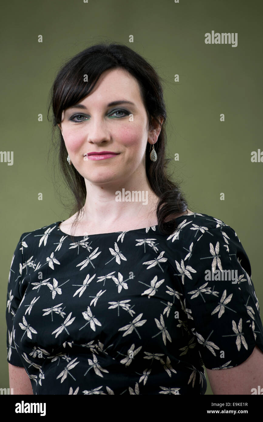 British author Michelle Harrison appears at the Edinburgh International Book Festival. - Stock Image
