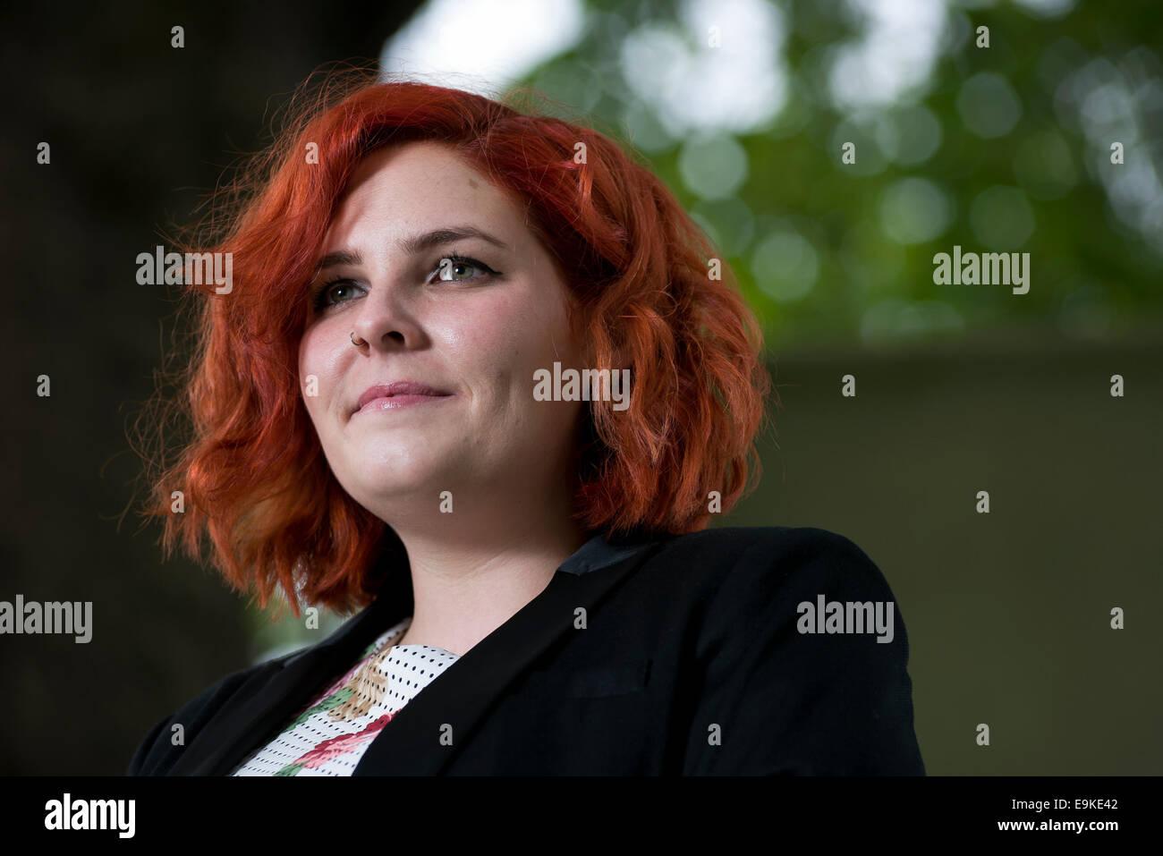 Poet Molly Vogel appears at the Edinburgh International Book Festival. - Stock Image