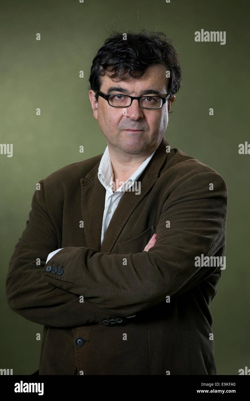 Writer and Professor of Spanish literature, Javier Cercas appears at the Edinburgh International Book Festival. - Stock Image