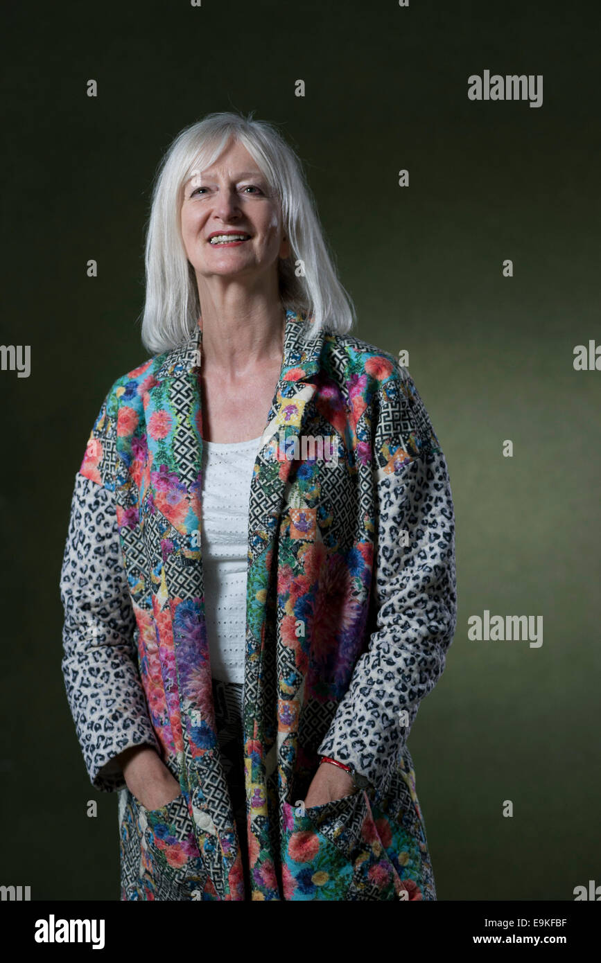 English novelist Maggie Mary Gee OBE FRSL appears at the Edinburgh International Book Festival. - Stock Image
