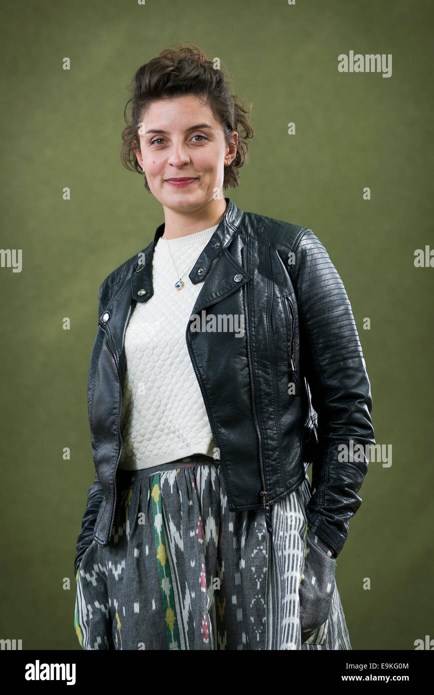 English actress and author Jessie Burton appears at the Edinburgh International Book Festival. - Stock Image