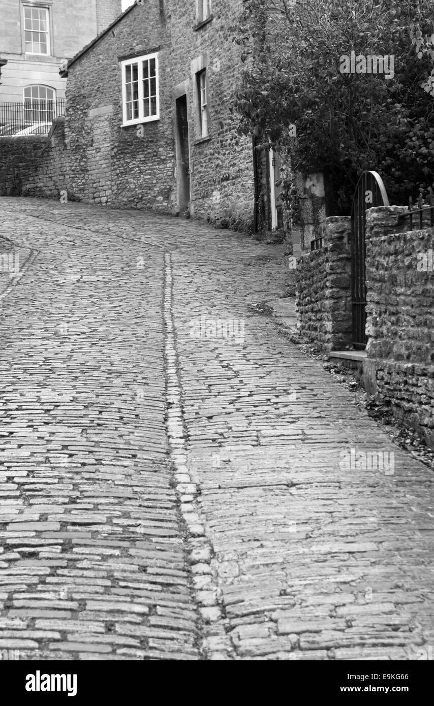 Frome a small town in Somerset England Gentle Street - Stock Image