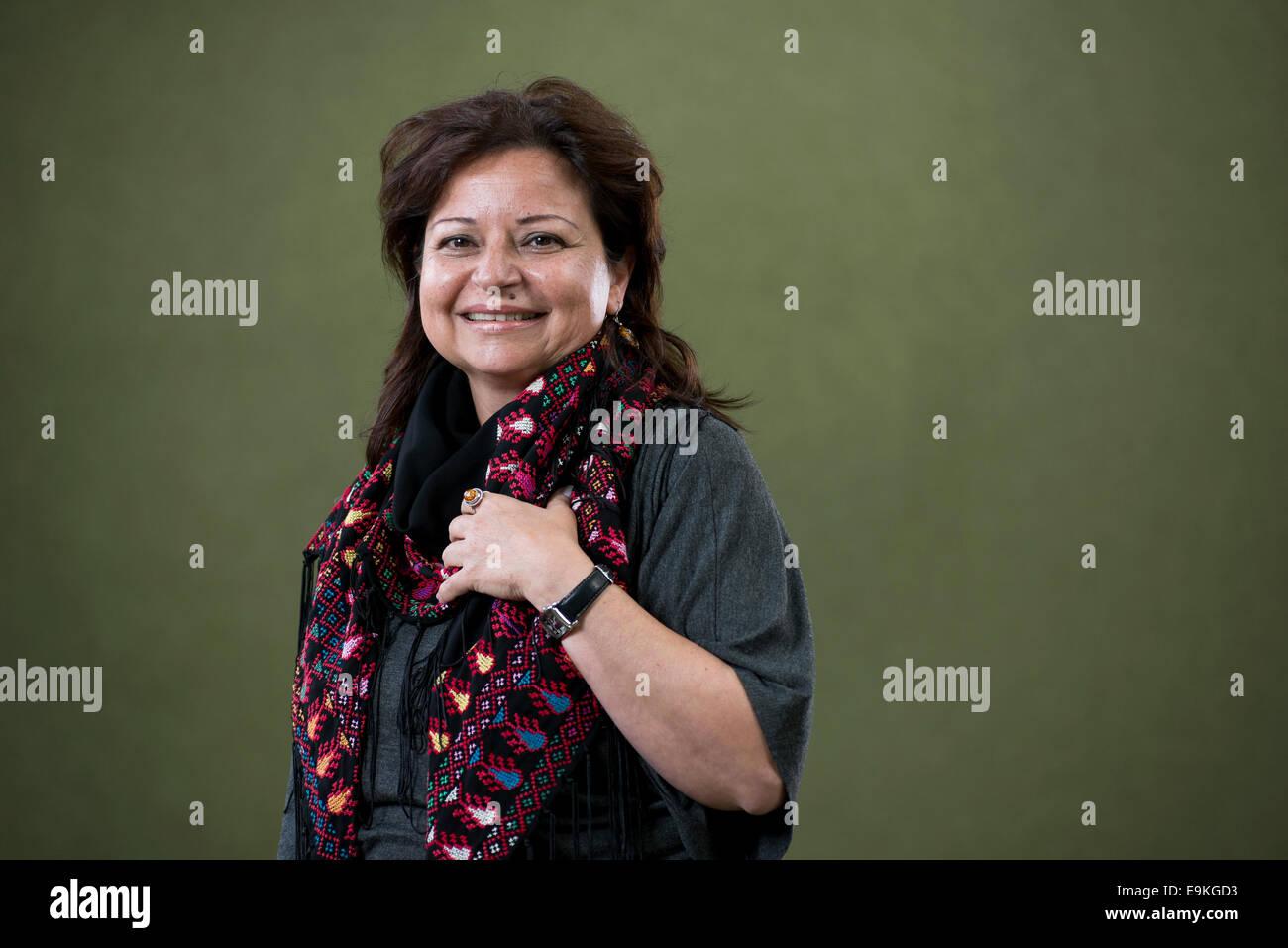 Author Alba Oudeh appears at the Edinburgh International Book Festival. - Stock Image