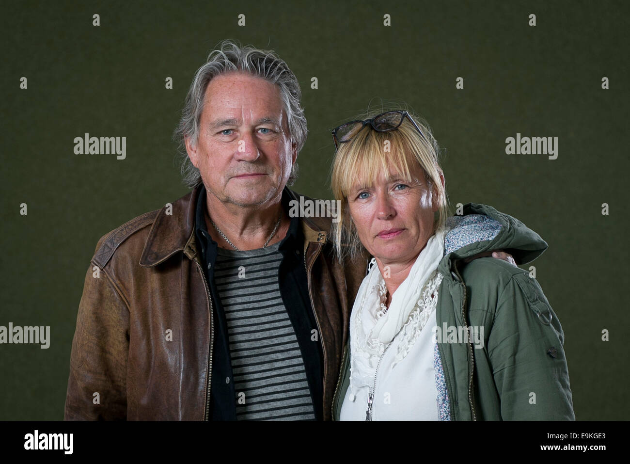 Authors Cilla and Rolf Bšorjlind appears at the Edinburgh International Book Festival. - Stock Image
