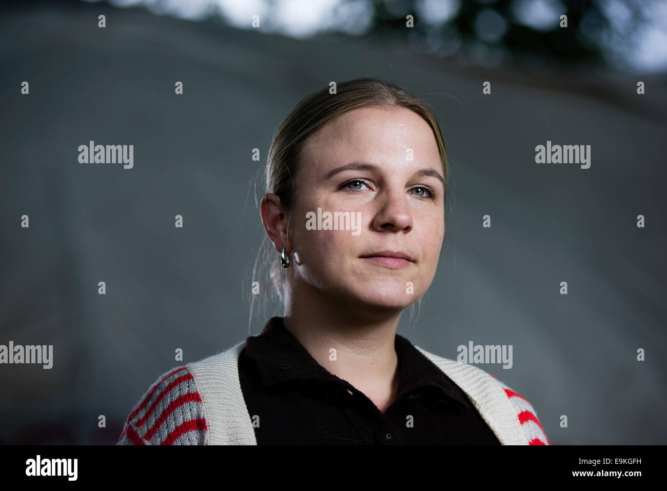 Author and journalist Erin Lange appears at the Edinburgh International Book Festival. Stock Photo