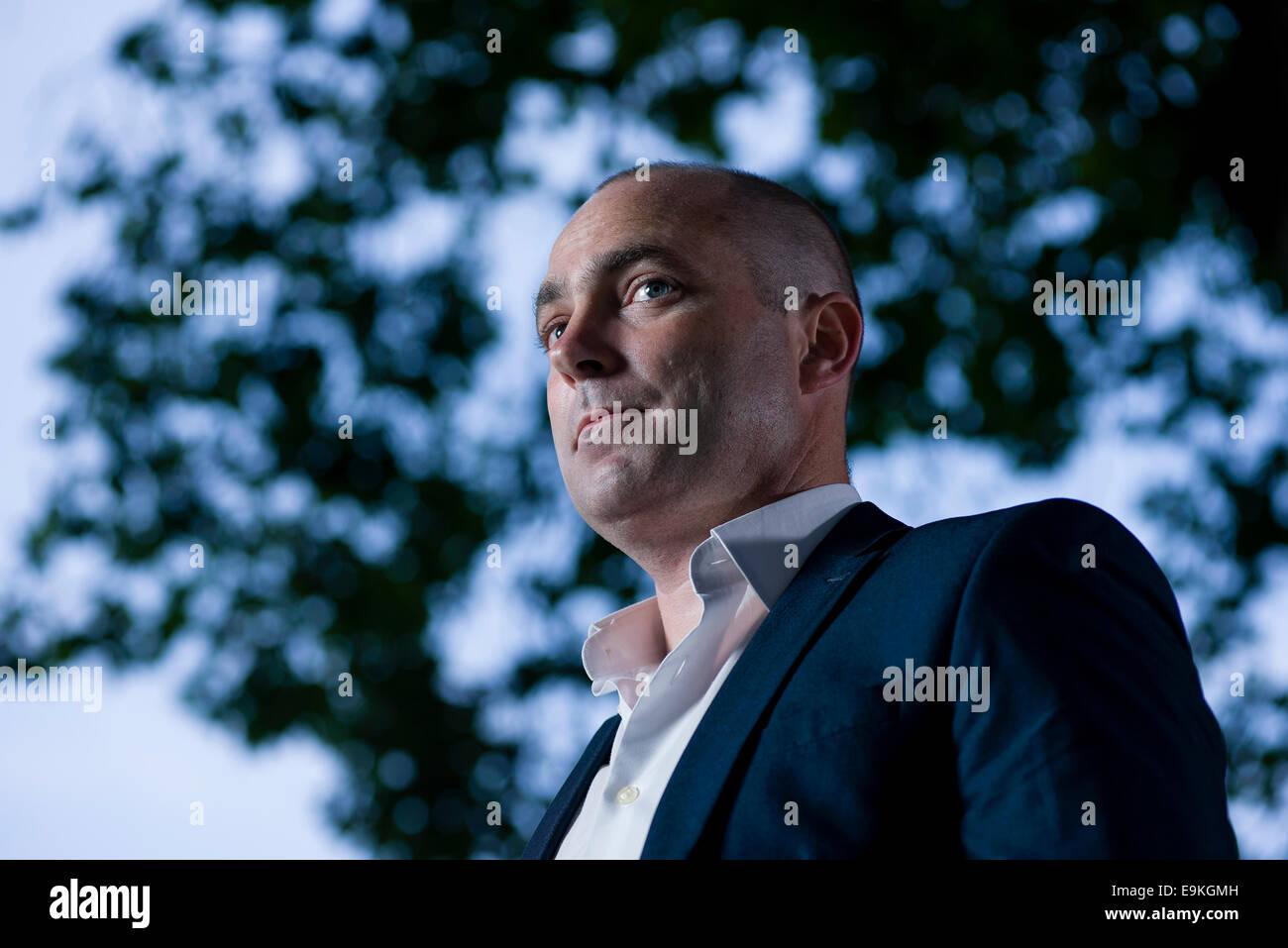 Irish writer Donal Ryan appears at the Edinburgh International Book Festival. - Stock Image