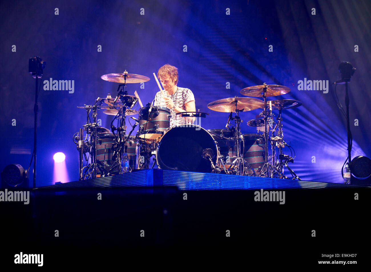 Drummer, Dom Howard of Muse - Stock Image