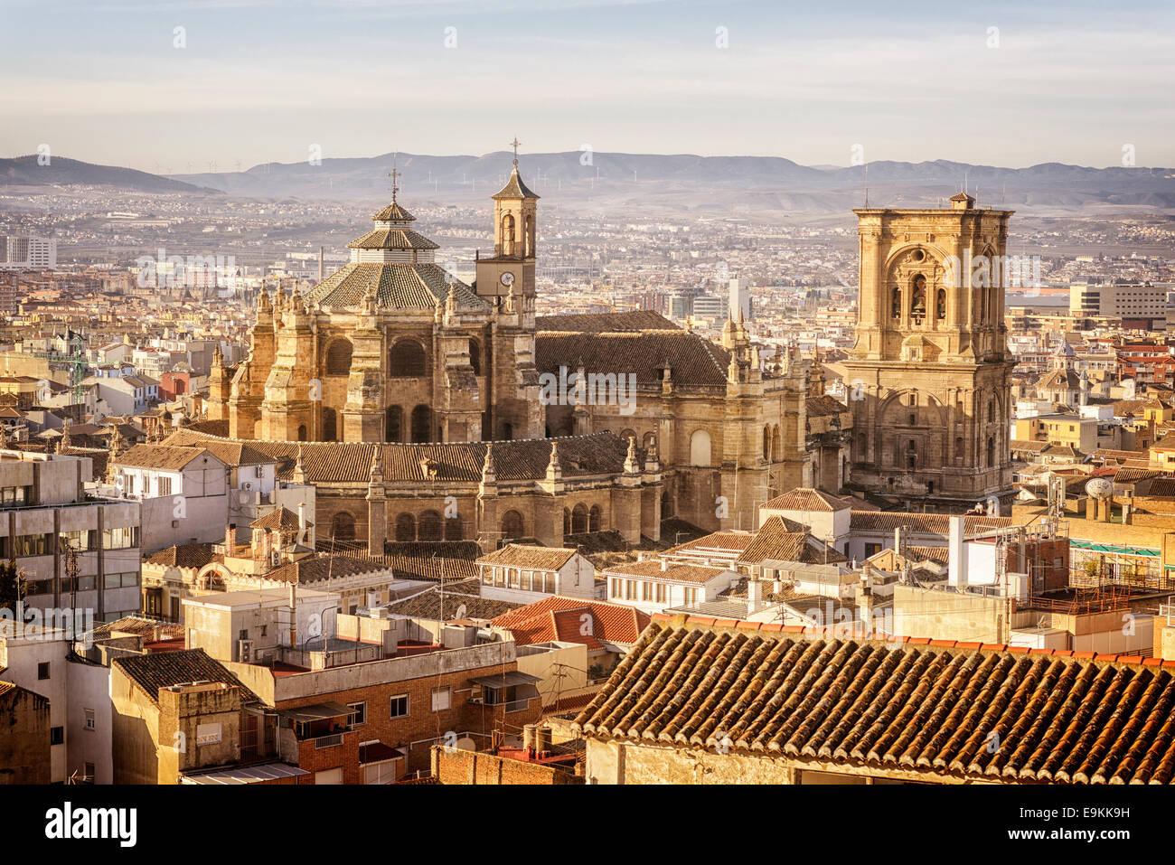 Granada, Cathedral, Santa Iglesia Catedral Metropolitana de la Encarnación de Granada, Cathedral of the Incarnation - Stock Image