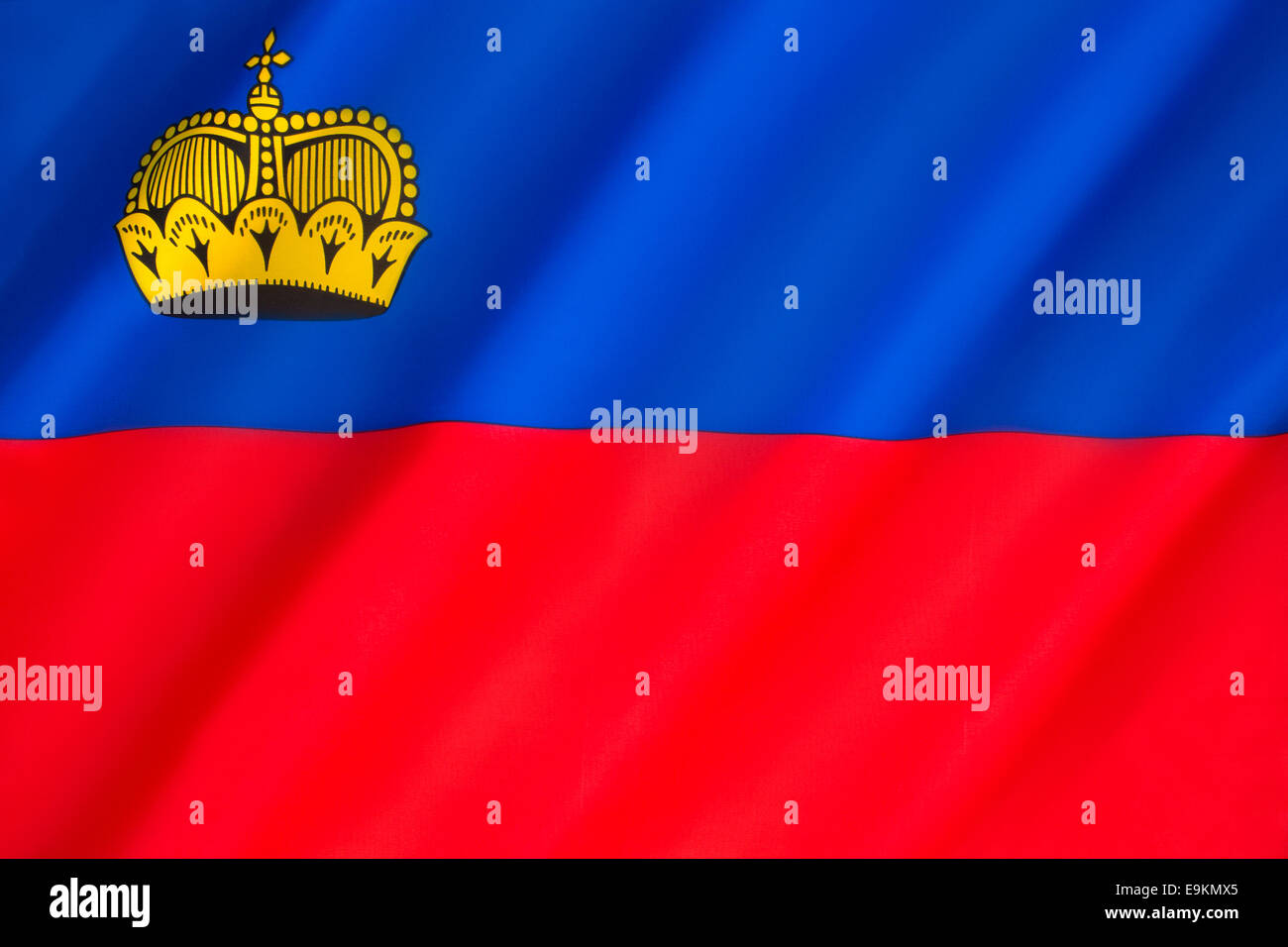 Flag of Liechtenstein - Stock Image