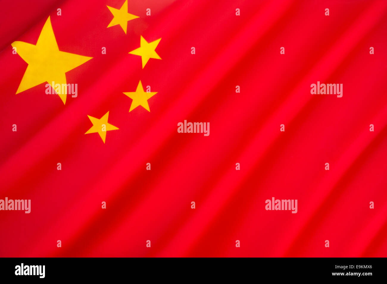 Flag of the Peoples Republic of China - Stock Image