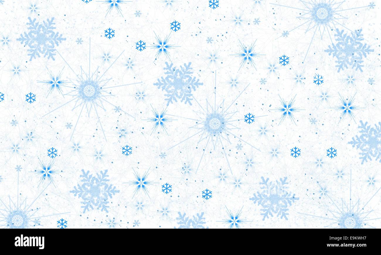 Snowflake background-illustration - Stock Image