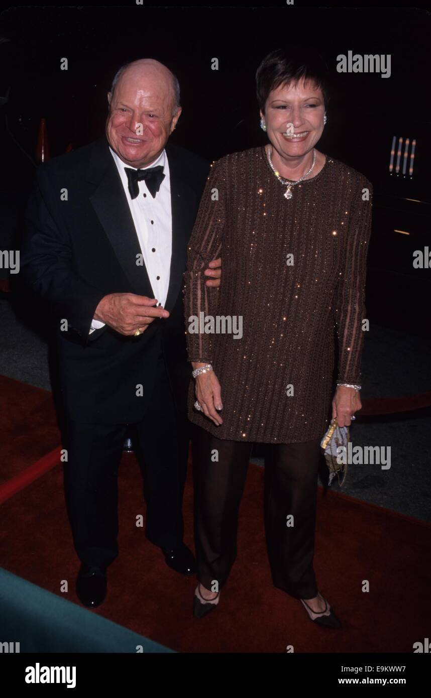 DON RICKLES with wife at Miramax Oscar party Beverly Hills Hotel Ca. 2000.k18303mr.(Credit Image: © Milan Ryba/Globe - Stock Image