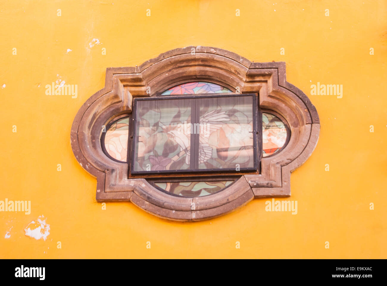 Colonial architecture window of Mexico - Stock Image