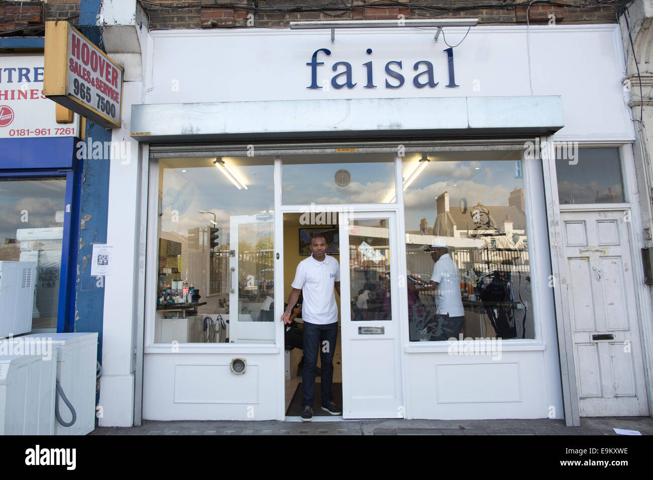 Faisal hairdressers, Harlesden, Northwest London, UK - Stock Image