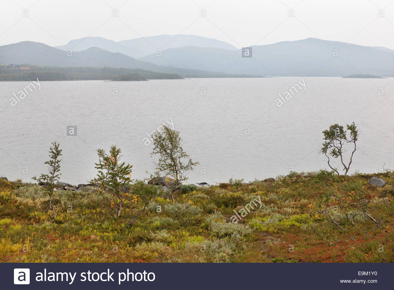 Lake Kilpisjärvi and fells in Sweden - Stock Image
