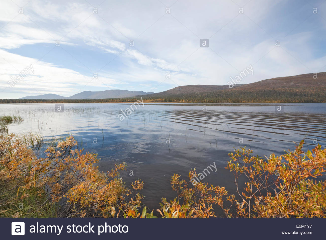 Lake Saivojärvi in Lapland - Stock Image