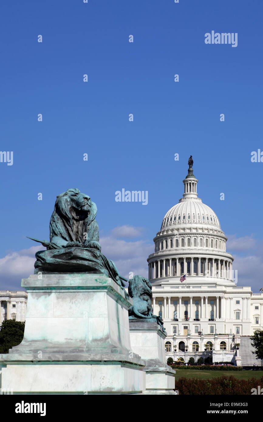 United States Capitol, Washington D.C., USA - Stock Image
