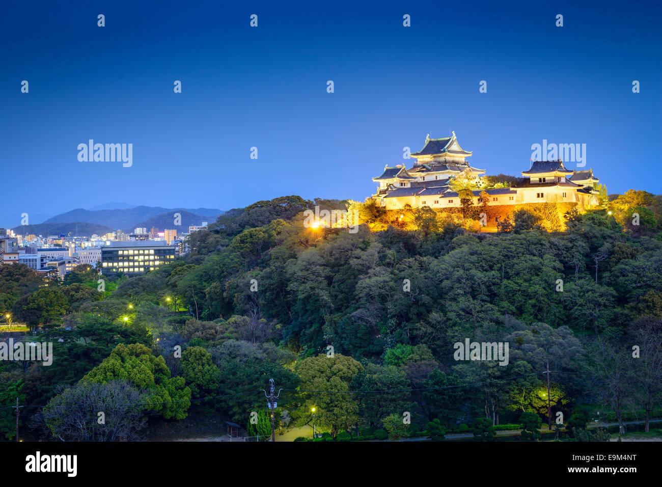 Wakayama City, Japan at Wakayama Castle. - Stock Image