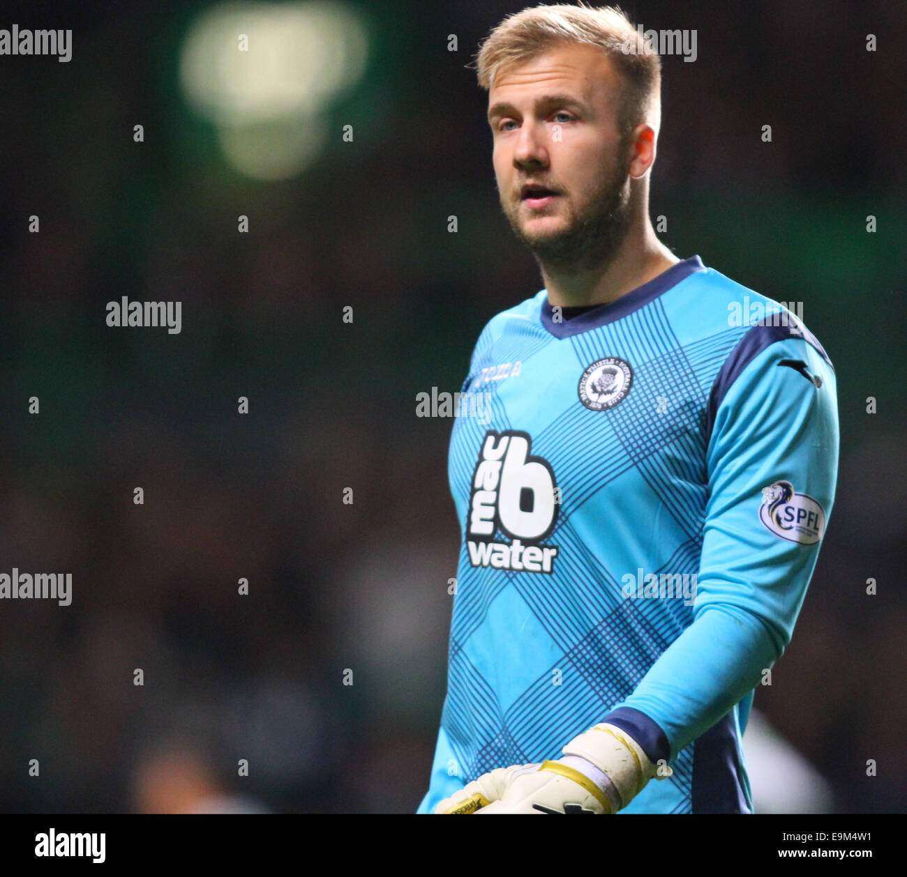 Glasgow, Scotland. 29th Oct, 2014. Scottish League Cup. Celtic versus Partick Thistle. Scott Fox, goalkeeper of - Stock Image
