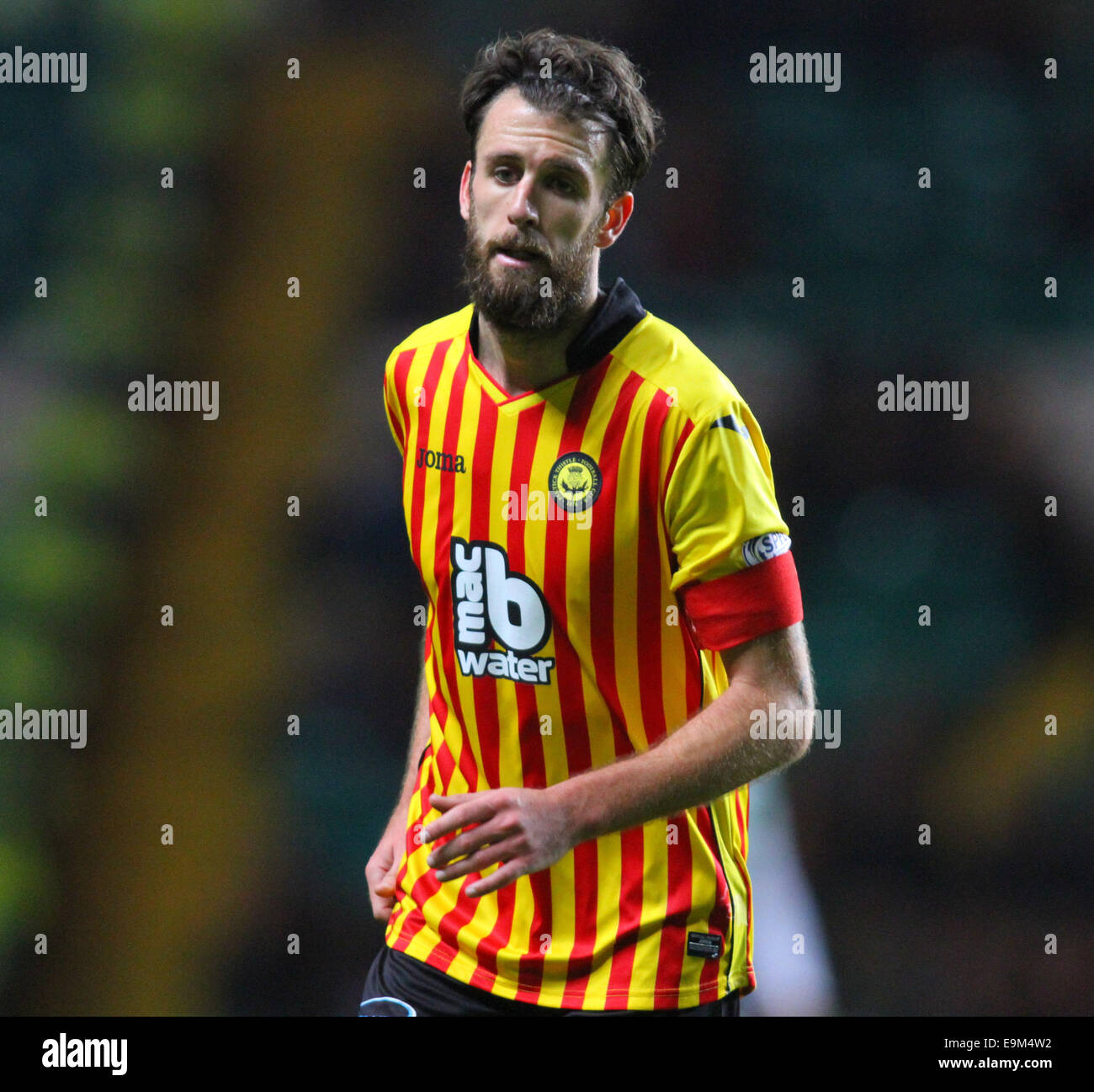 Glasgow, Scotland. 29th Oct, 2014. Scottish League Cup. Celtic versus Partick Thistle. Danny Seaborne of Partick - Stock Image