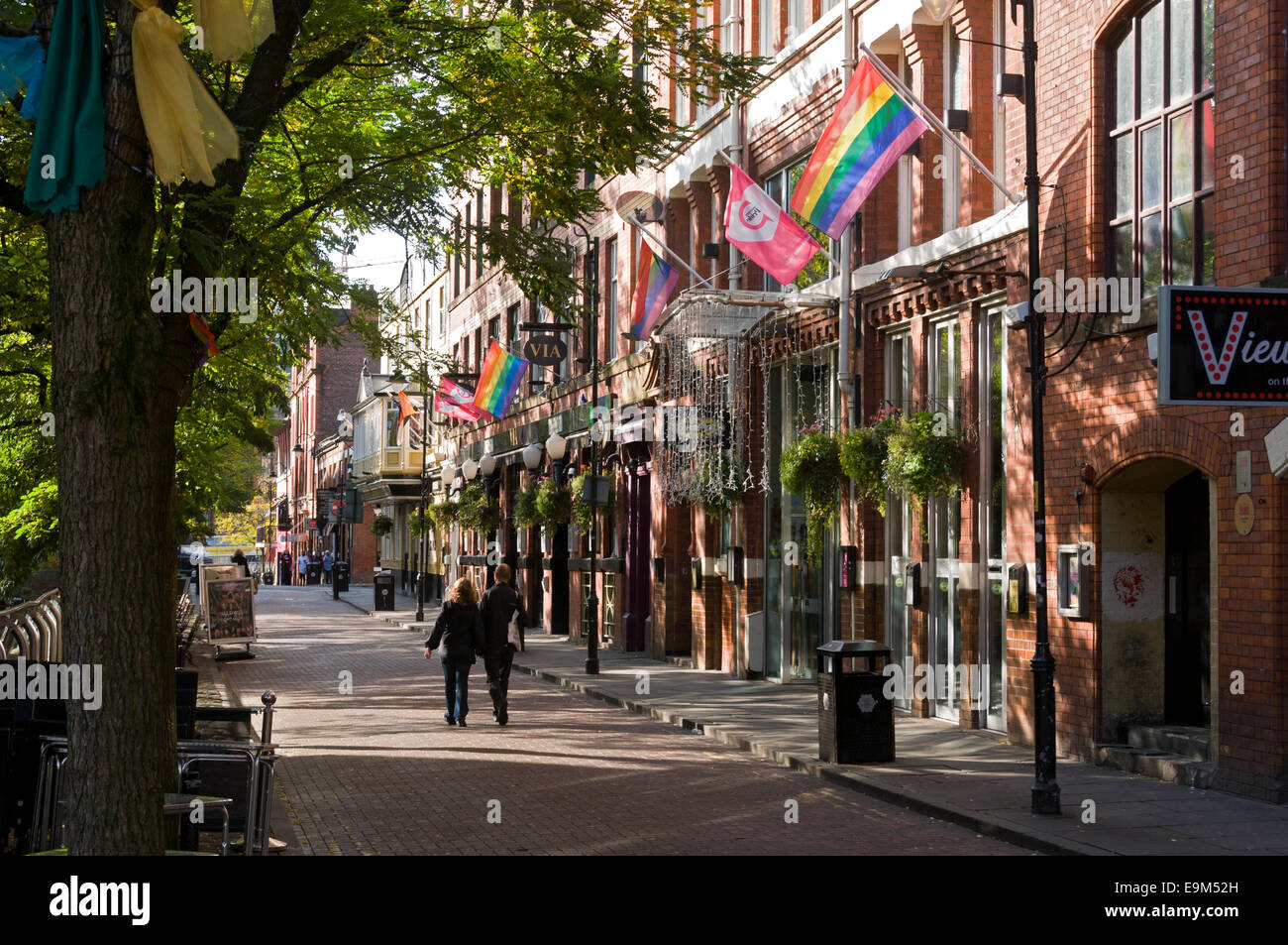 Canal Street, Manchester, England, UK.  Manchester's 'Gay Village'. - Stock Image