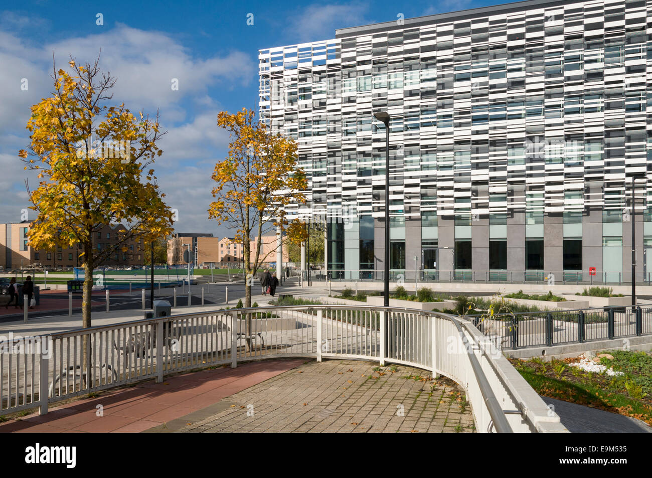 Manchester Metropolitan University, Brooks Academic building, Birley Campus, Manchester, England, UK. Sheppard Robinson - Stock Image