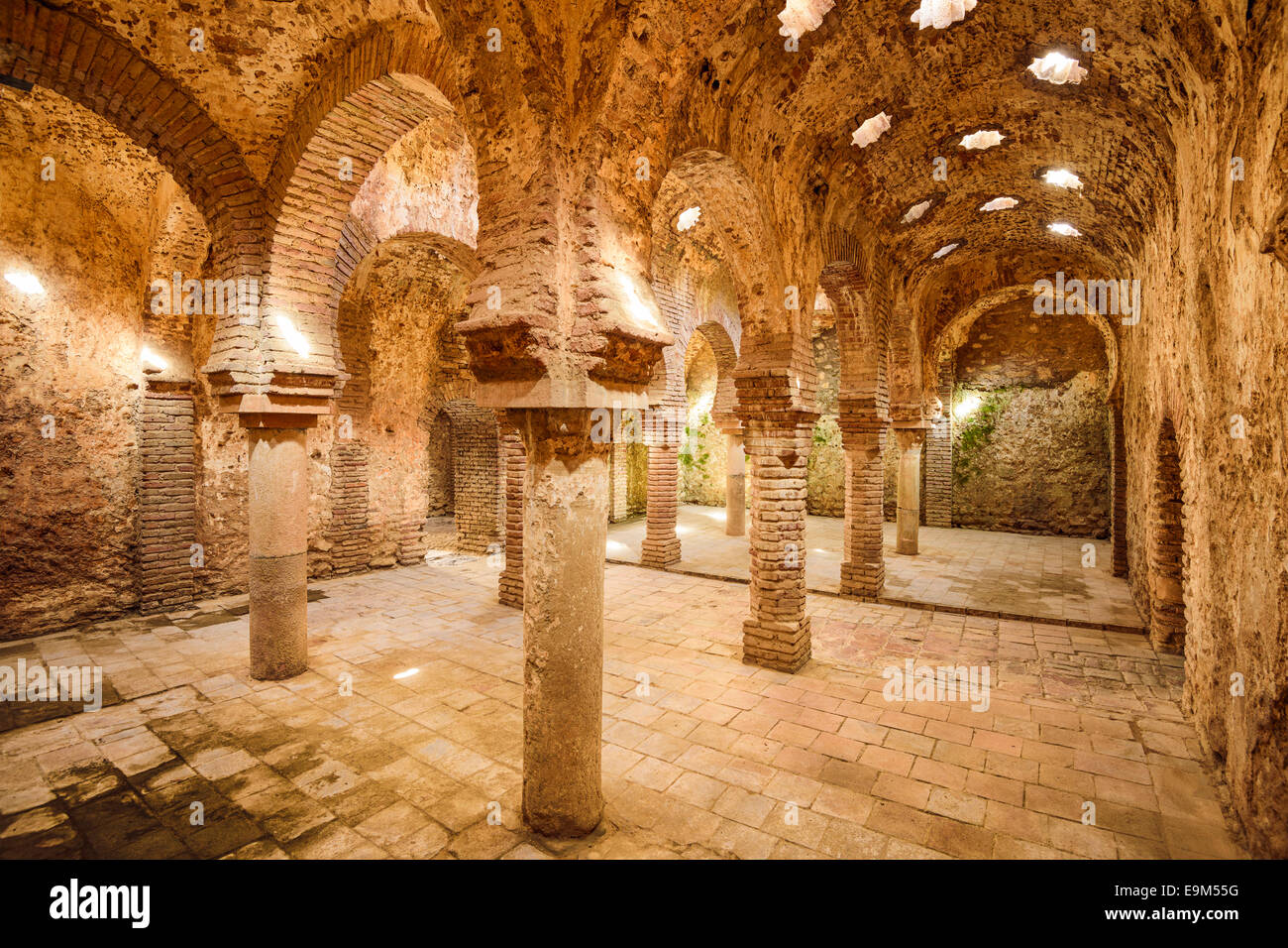 Ronda, Spain at the Arab Baths dating from the 11th-12th Centuries. - Stock Image