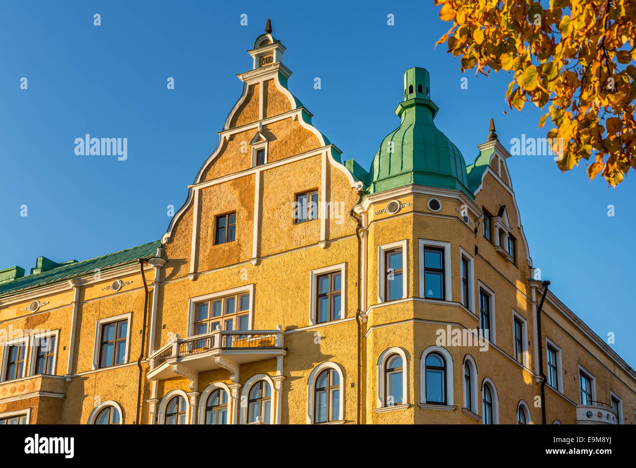 Typical Finnish architecture from around 1900, Art Nouveau, Helsinki, Finland - Stock Image