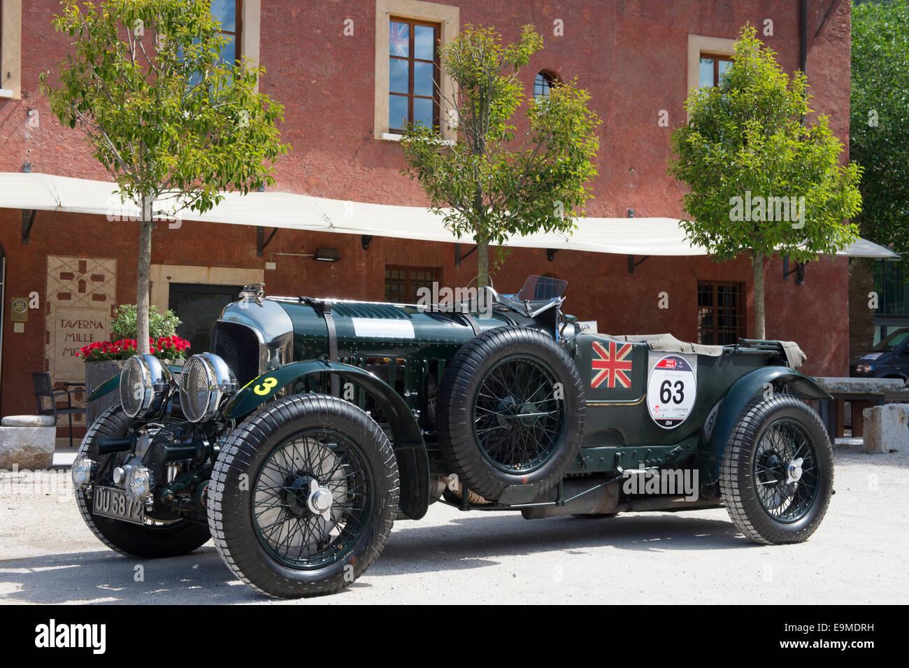 Bentley 4.5 Litre SC, built in 1930, Mille Miglia Museum, exhibition, classic car, race car, Mille Miglia car race, - Stock Image