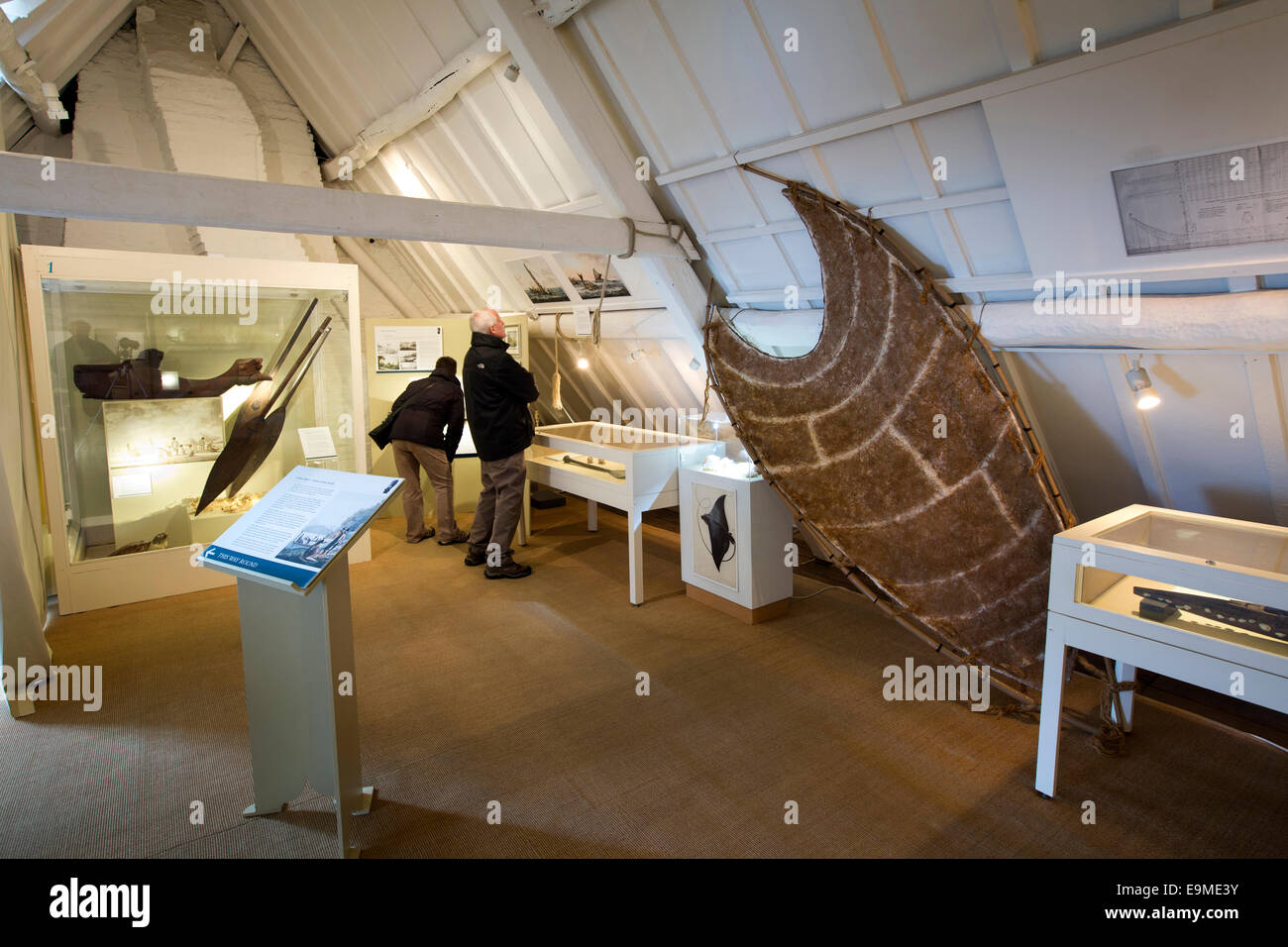 UK, England, Yorkshire, Whitby, Grape Lane, Captain Cook Museum, loft where apprentices slept - Stock Image