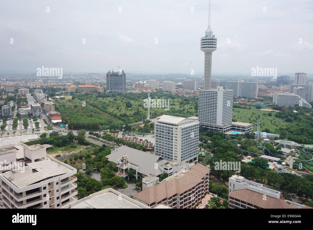 Pattaya, Thailand bird eye view - Stock Image