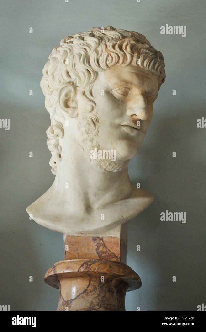 Emperor Nero Capitoline Museums Musei Capitolini Rome Italy - Stock Image