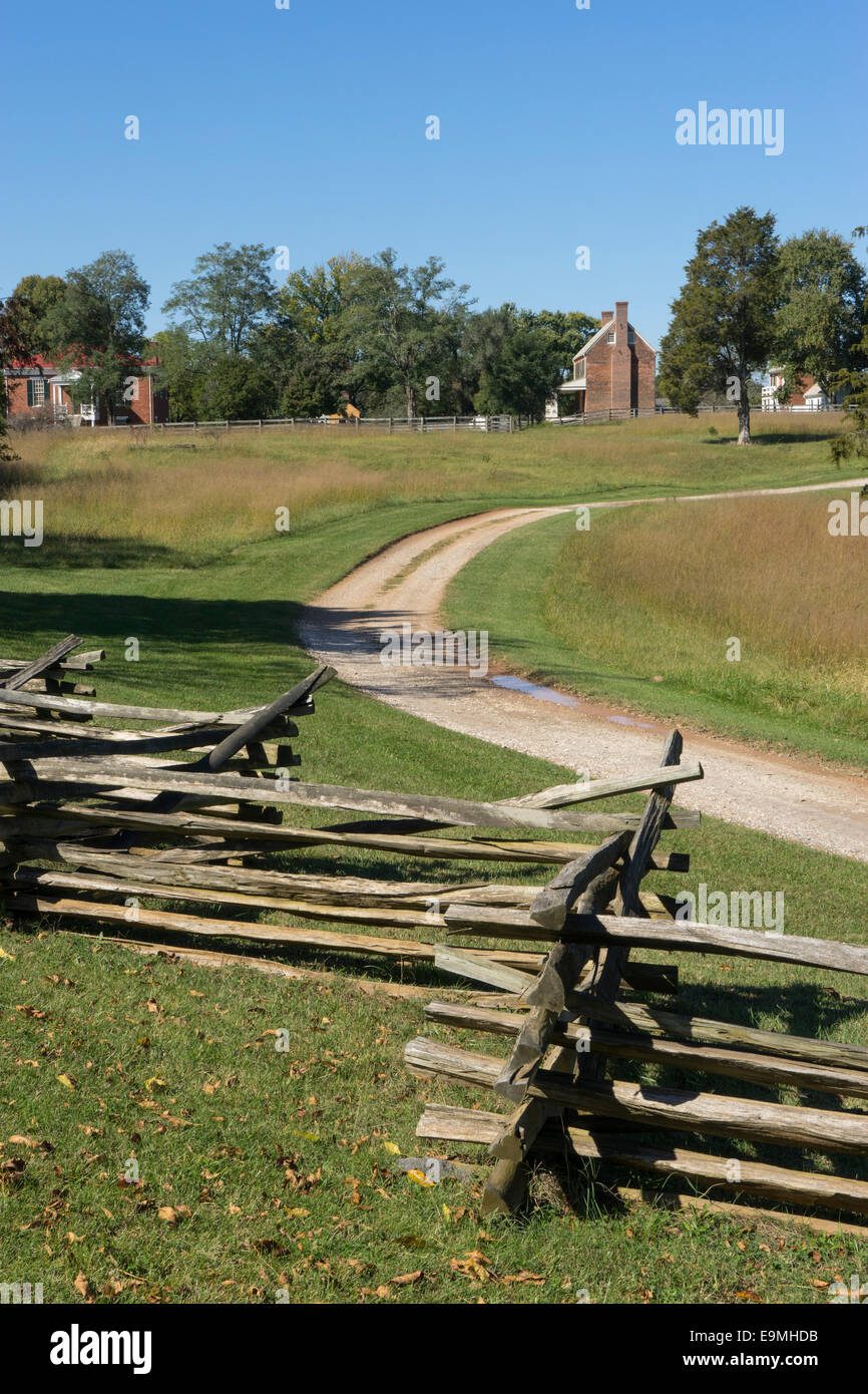 United States, Virginia, Appomattox County, Appomattox Court House, National Historical Park, Site of the end of - Stock Image