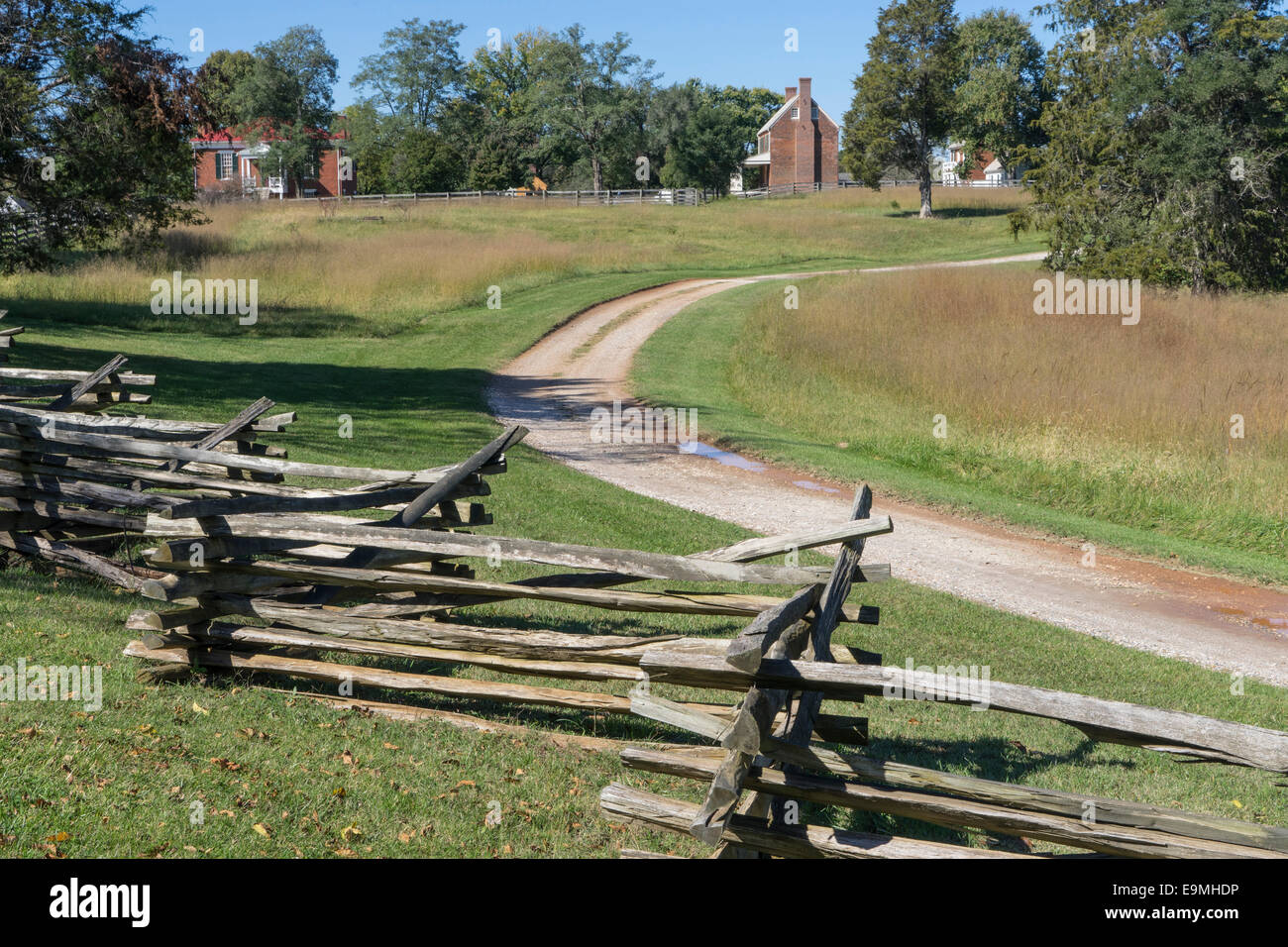 United States, Virginia, Appomattox County, Appomattox Court House, National Historical Park,Site of the end of - Stock Image