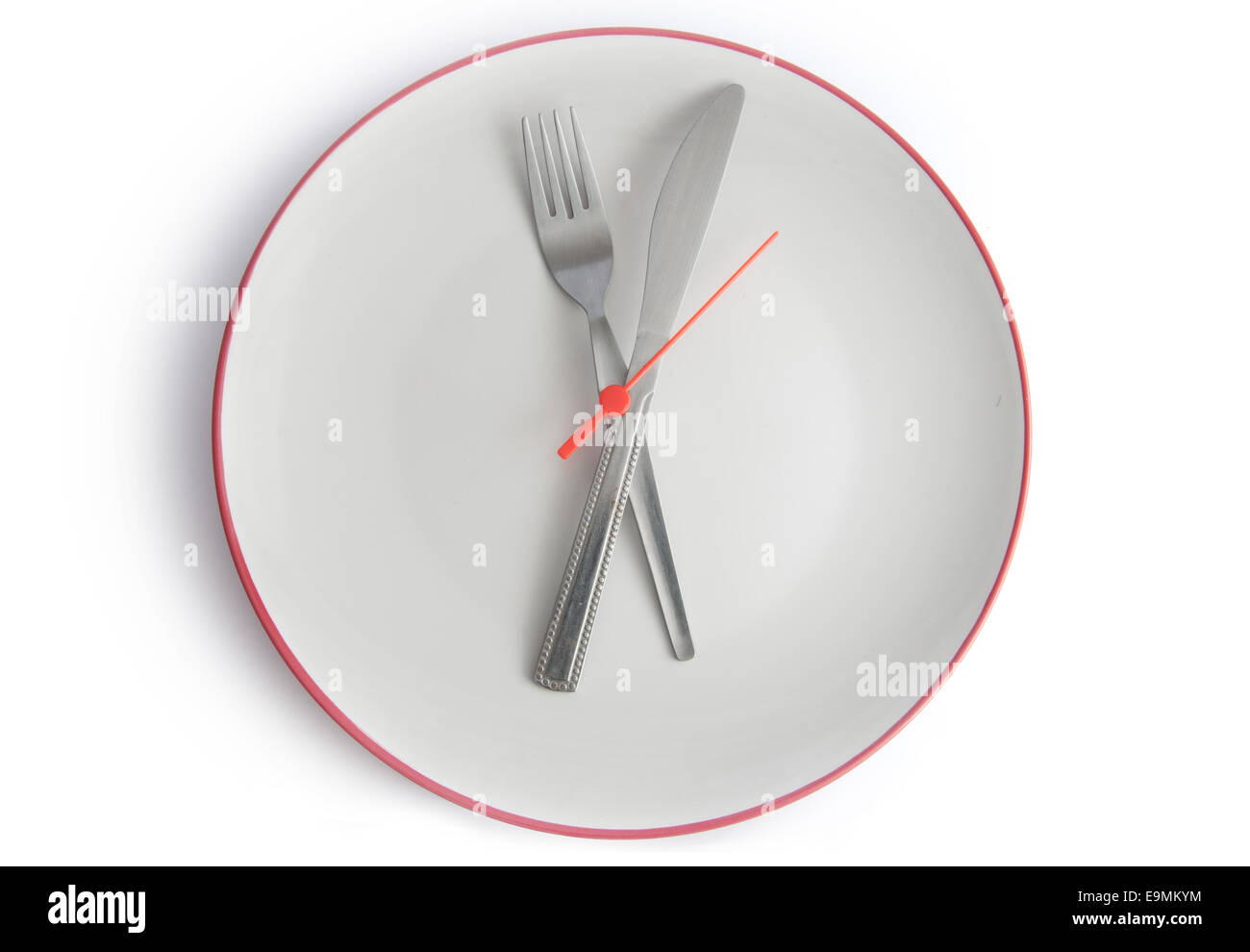 Meal time clock Stock Photo