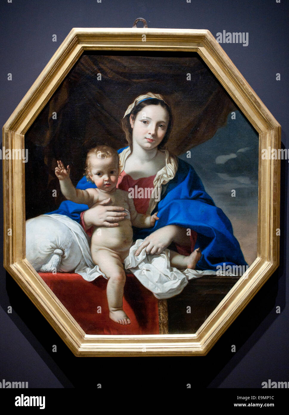 Vierge à l'Enfant - Virgin and Child 1650 Nicolas Mignard (1606–1668)  France French - Stock Image