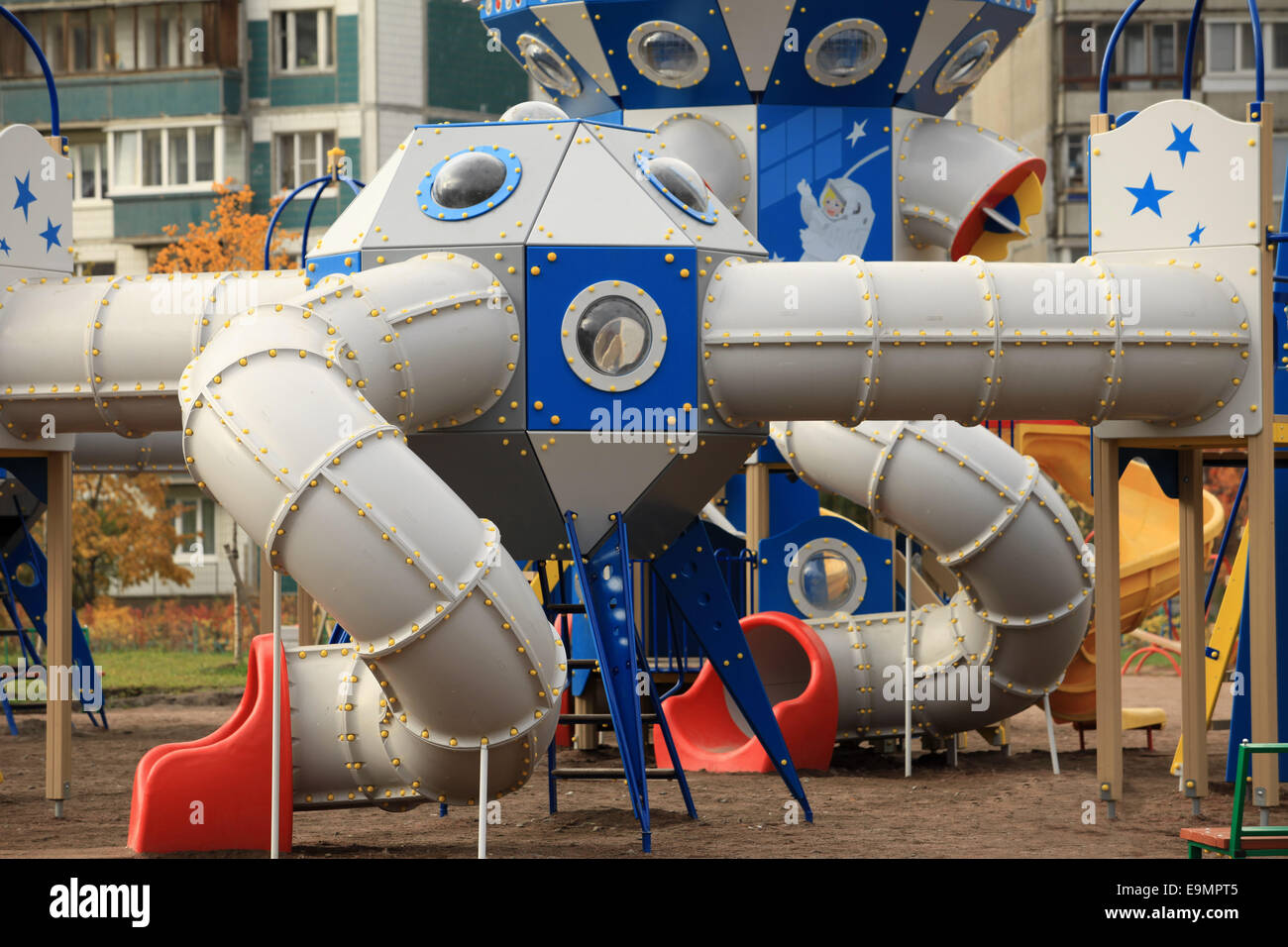 playground spaceport - Stock Image