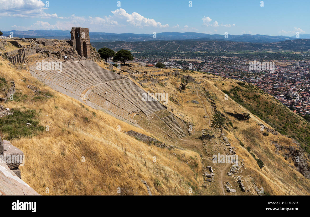 Details of the old ruins at Pergamum Stock Photo