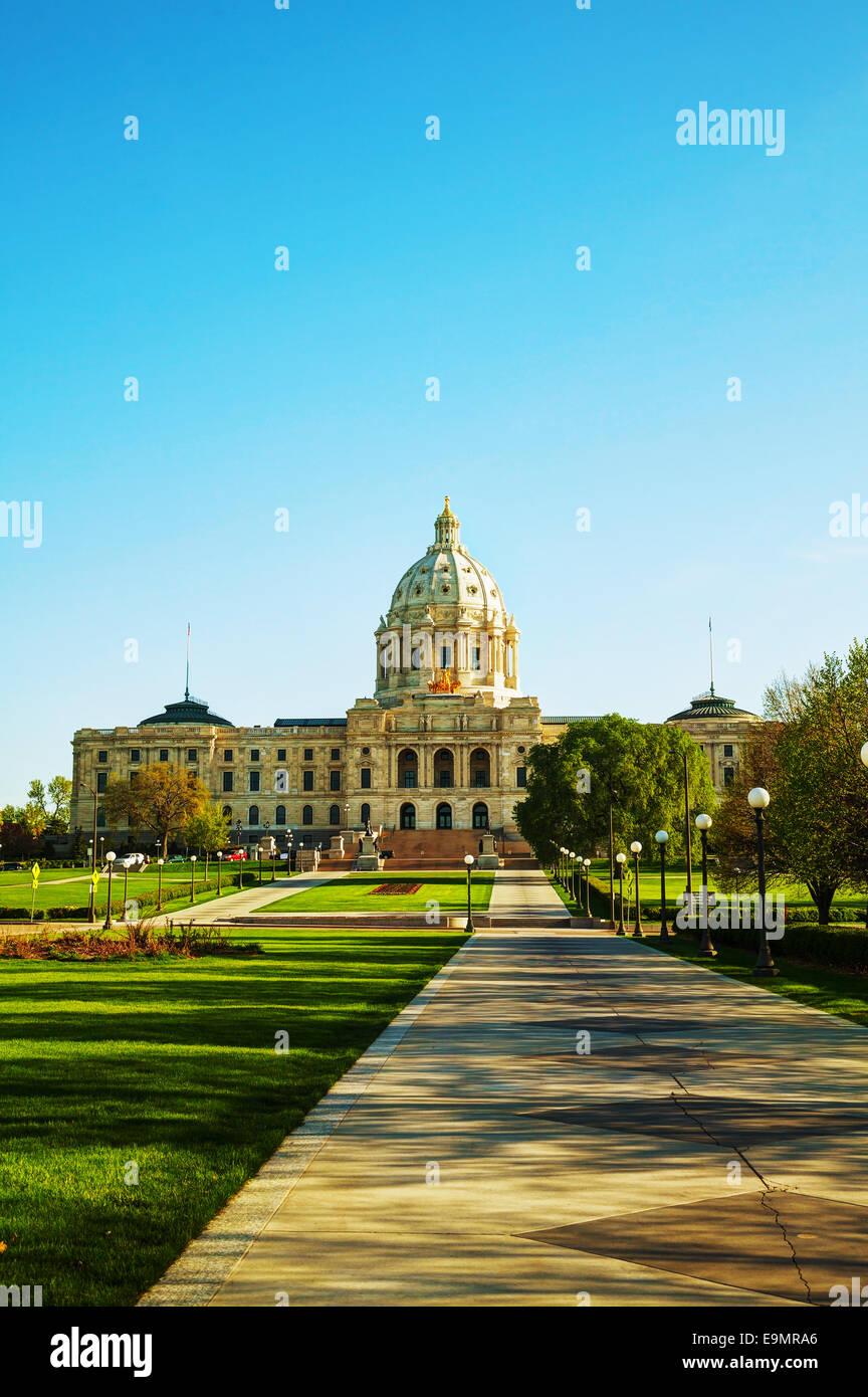 Minnesota capitol building in St. Paul, MN - Stock Image
