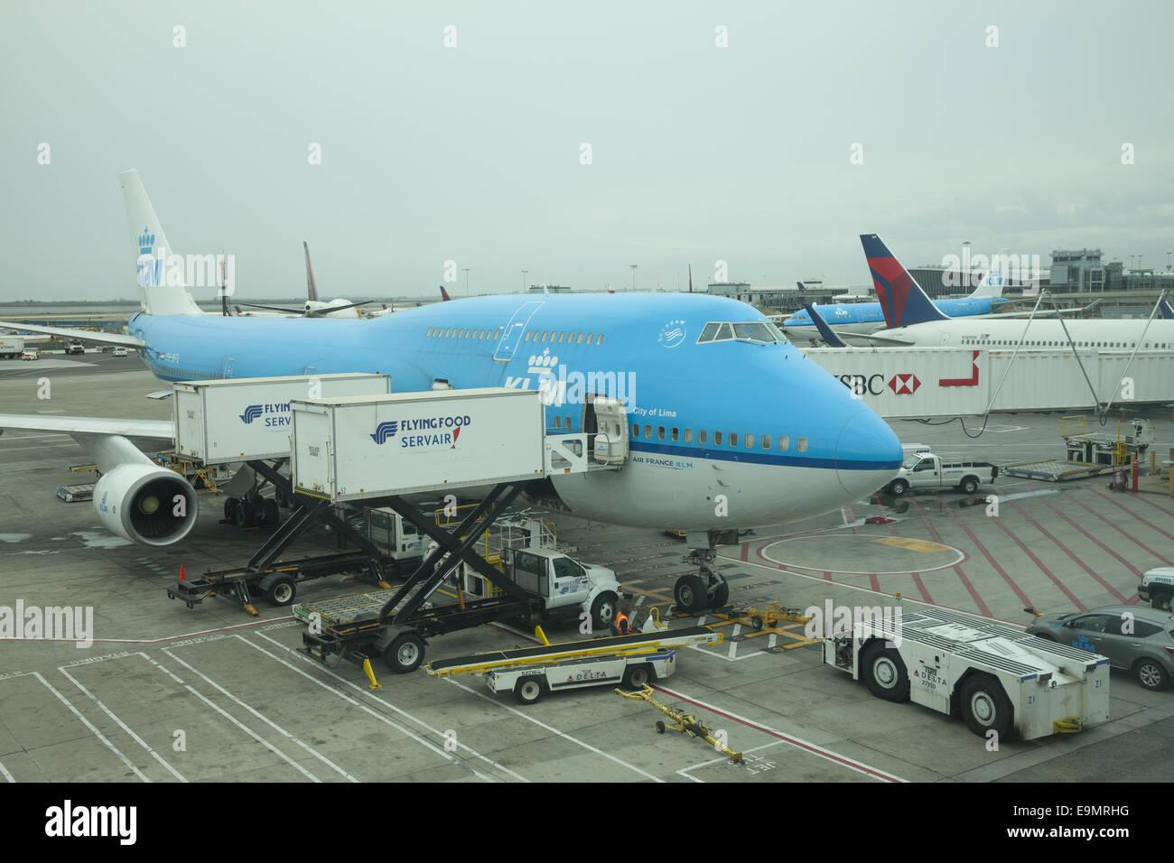 JFK International Airport in New York City. - Stock Image