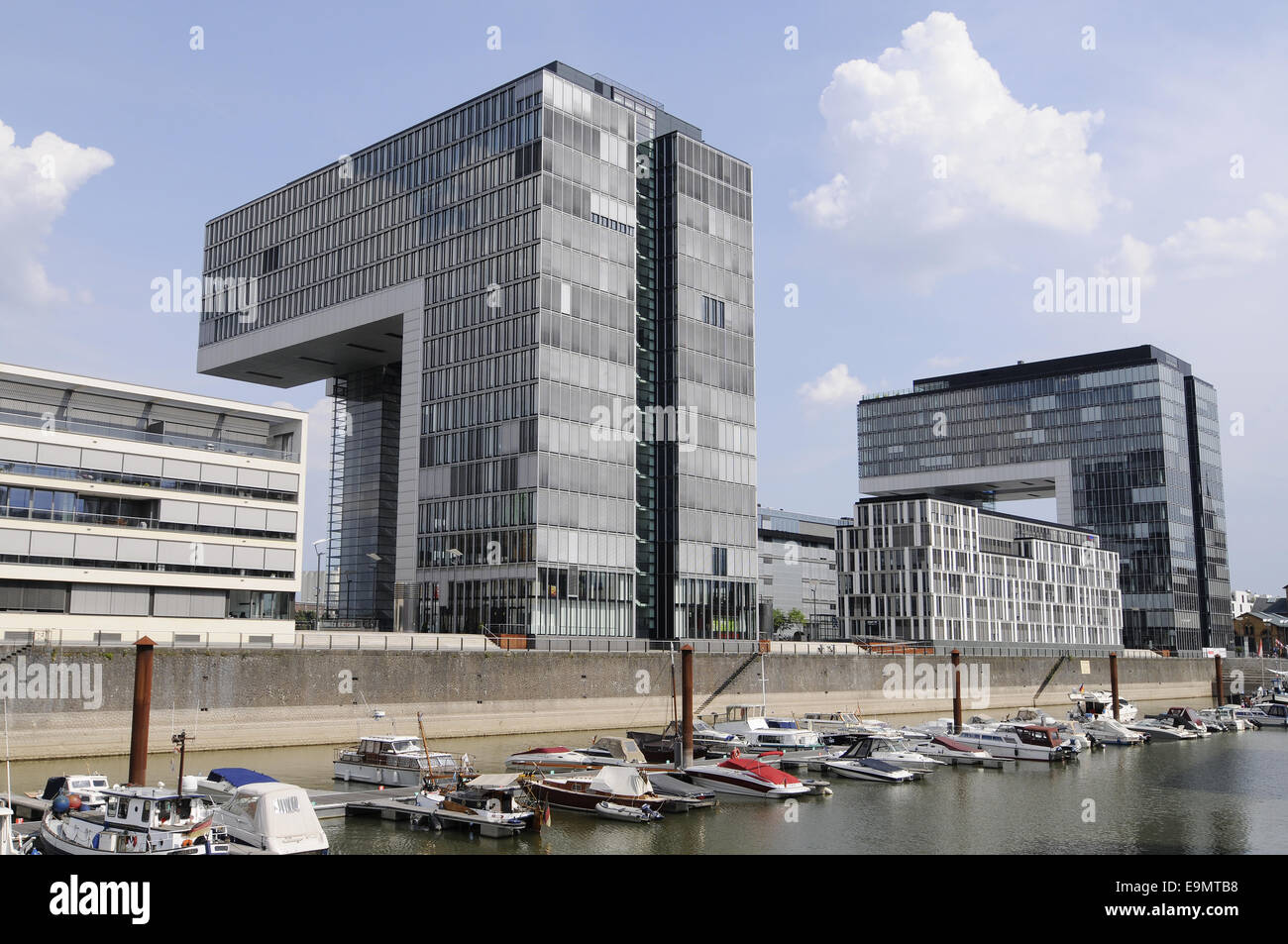 crane towers, Cologne, Germany Stock Photo