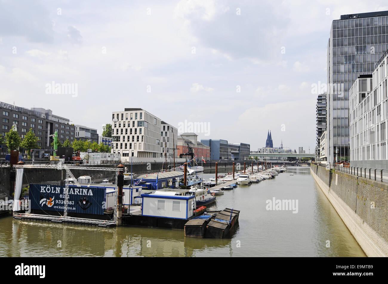 Marina, Cologne, Germany Stock Photo